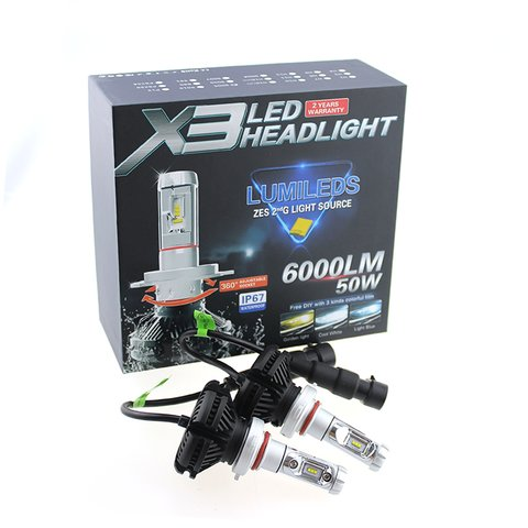 Car LED Headlamp Kit UP-X3HL-9006W(HB4) (6000 lm) Preview 2