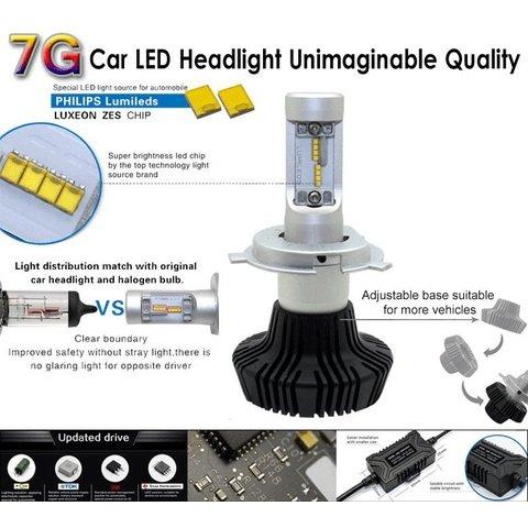 Набір світлодіодного головного світла UP-7HL-9006W-4000Lm (HB4, 4000 лм, холодний білий) Прев'ю 3