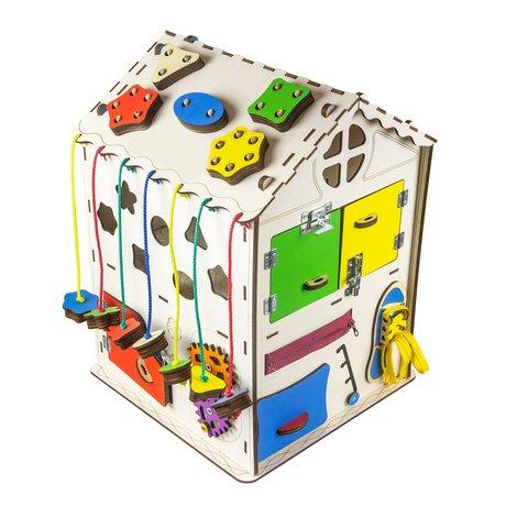 Бизиборд GoodPlay Большой развивающий домик с подсветкой (35×35×50) Превью 4